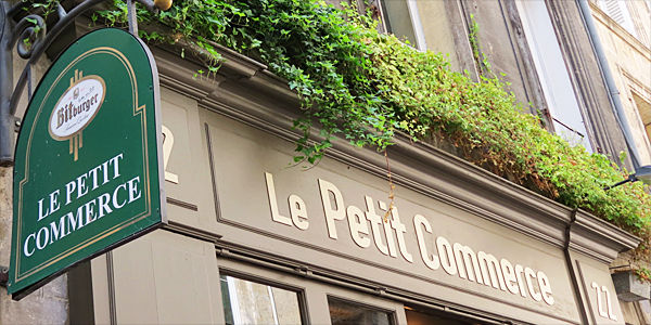 Restaurant Le Petit Commerce à Bordeaux. Quartier Saint Pierre