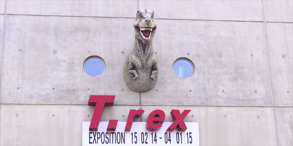 Exposition T-Rex au Cap Sciences de Bordeaux